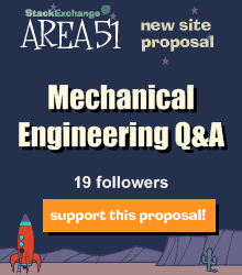 Stack Exchange Q&A site proposal: Mechanical Engineering